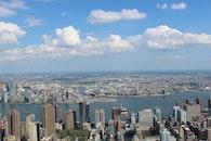 city, water, skyline