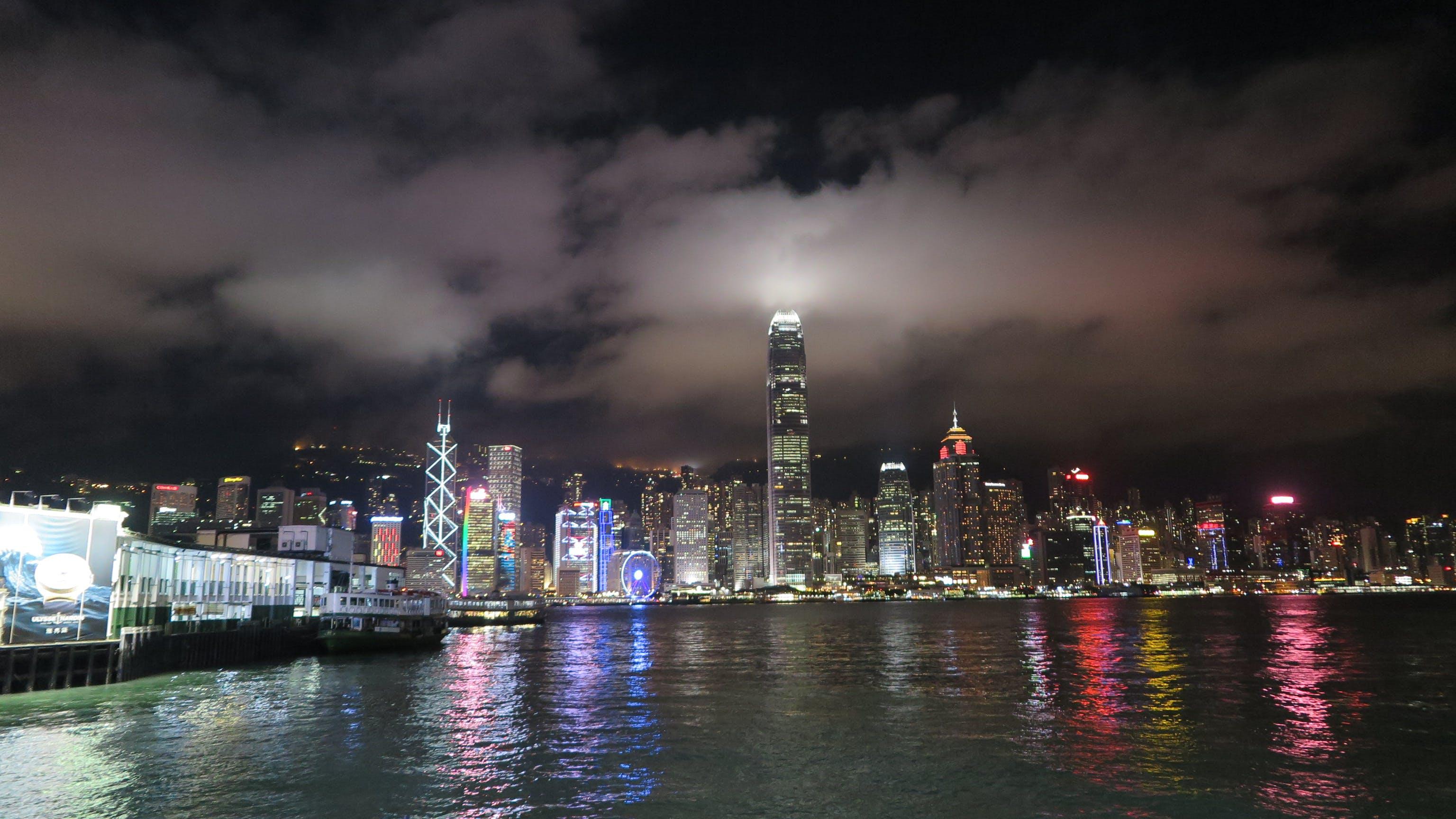 คลังภาพถ่ายฟรี ของ กลางคืน, การสะท้อน, ตอนเย็น, ตัวเมือง