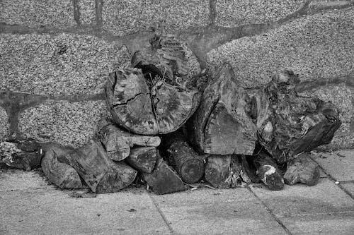 Foto d'estoc gratuïta de blanc i negre, fusta, fusta tallada, monocrom