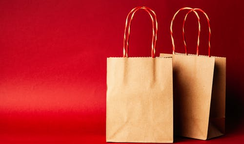 Two Paper Tote Bags