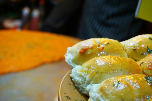 Bread Pastry With Souce