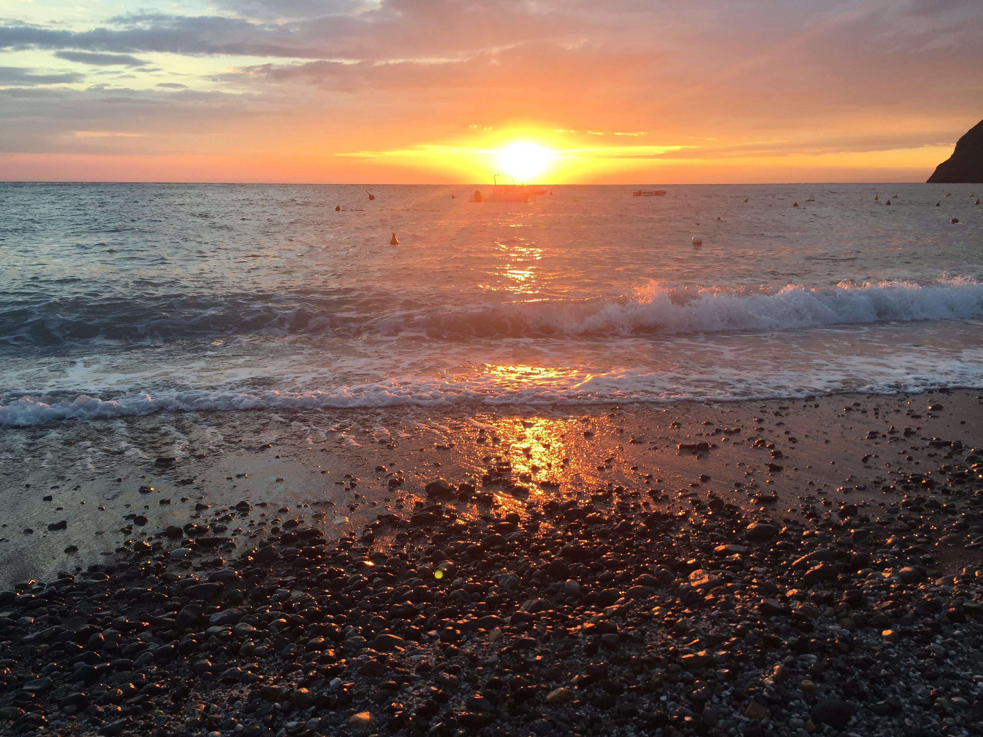 Free stock photo of beach, beach break, morning sun, sunrise