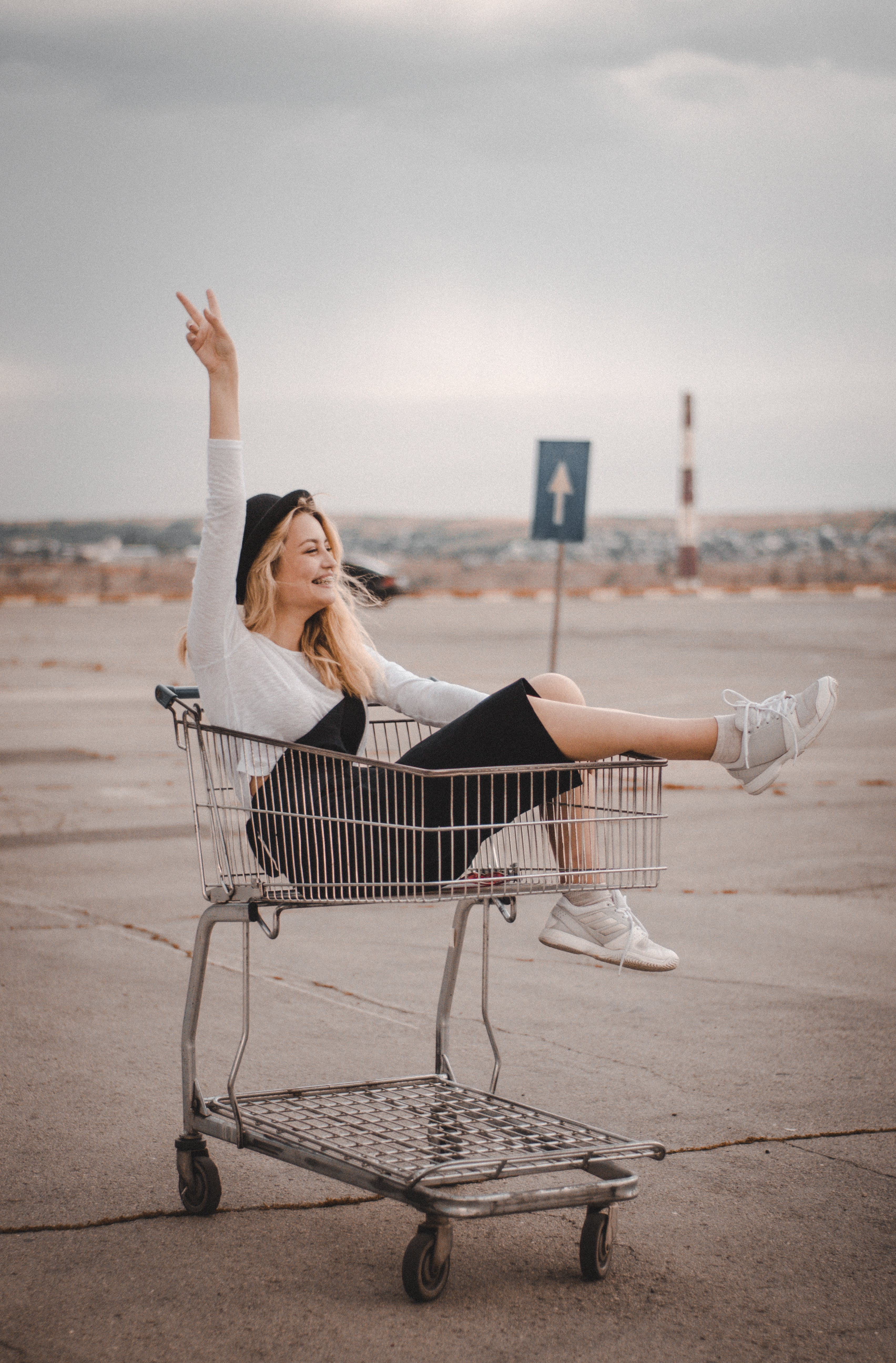 Woman In A Cart