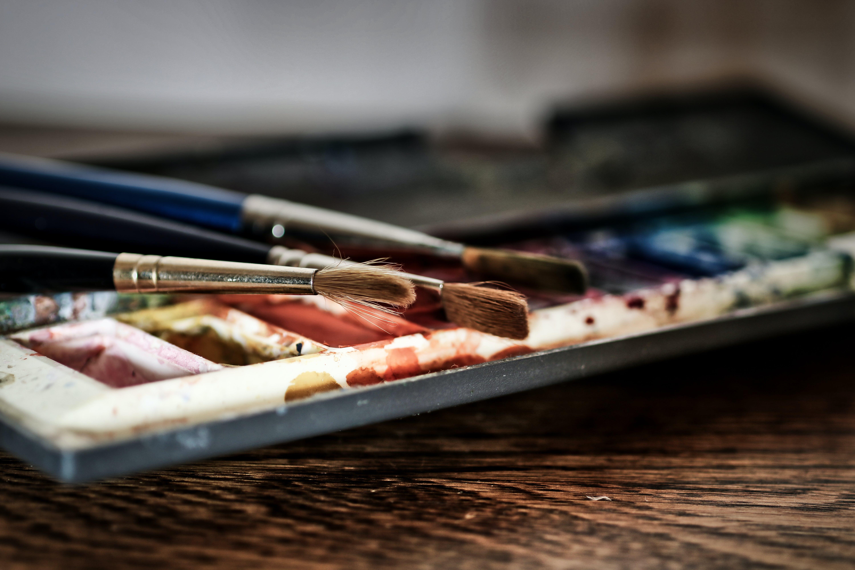 Close-Up Photo of Paintbrush