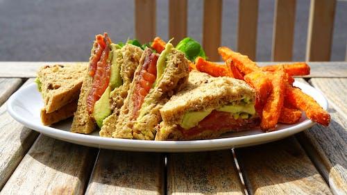 Δωρεάν στοκ φωτογραφιών με γεύμα, πιατέλα, σάντουιτς, τηγανίζω