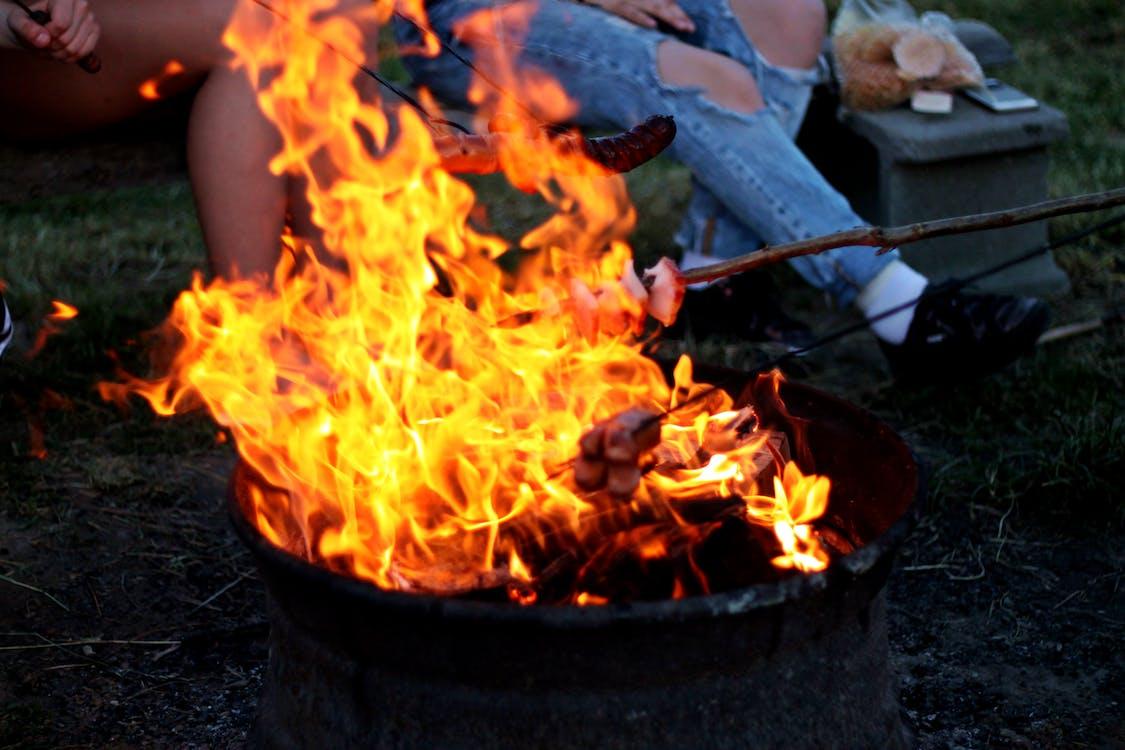 barbecue, beau, brûler