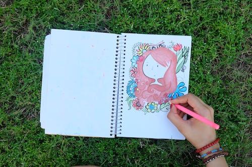 Безкоштовне стокове фото на тему «квіти, малювання, мистецтво, персона»