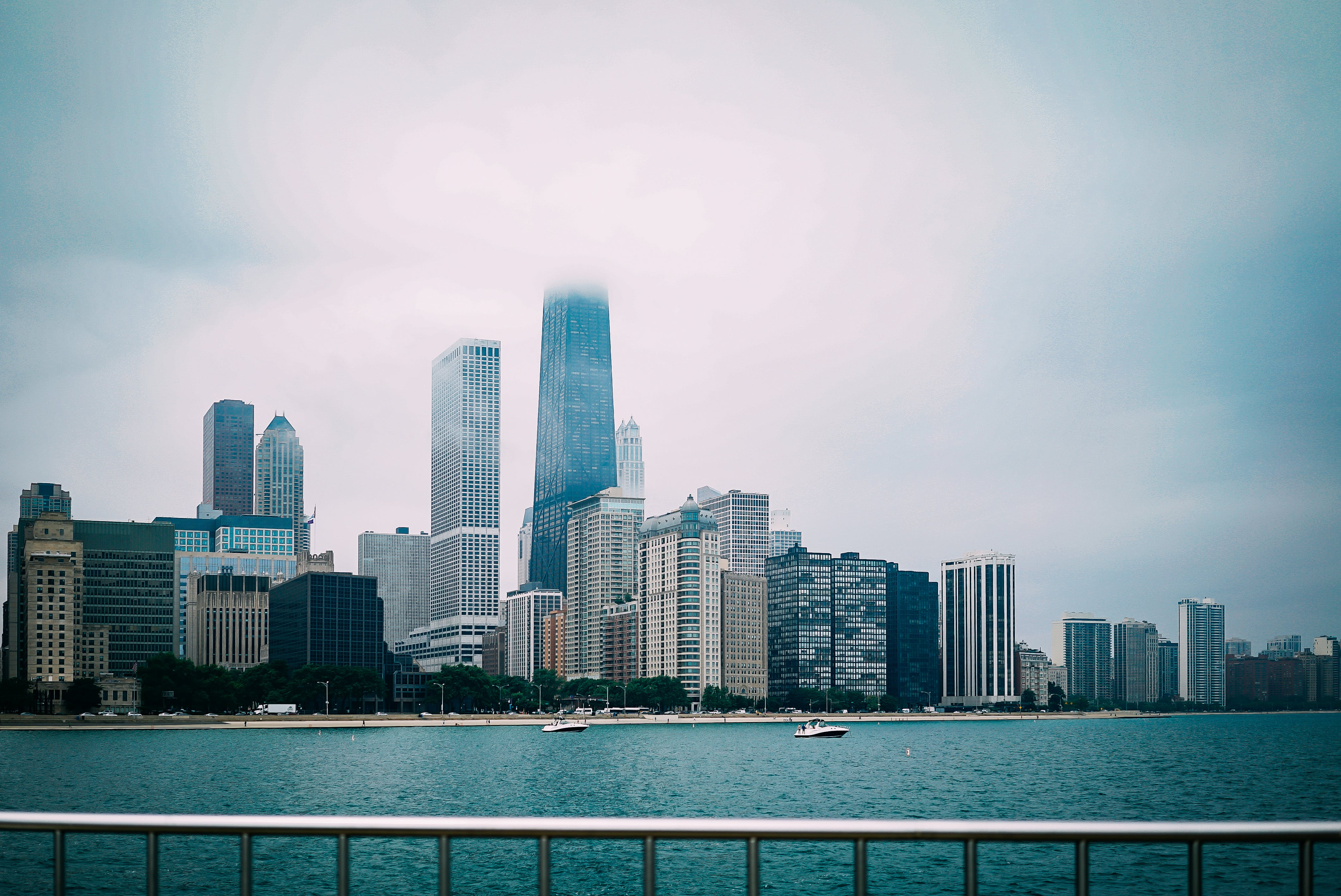 High Rise Buildings Near Body of Water