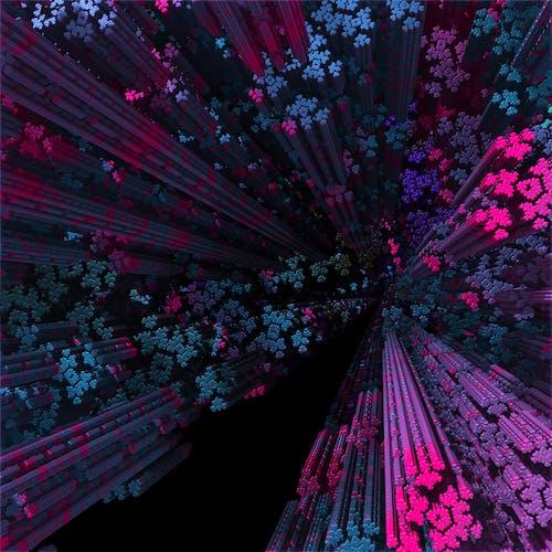 Free stock photo of black, blue, fractal, generations