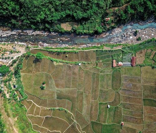 Gratis stockfoto met akkerland, akkers, bird's eye view, boerderij