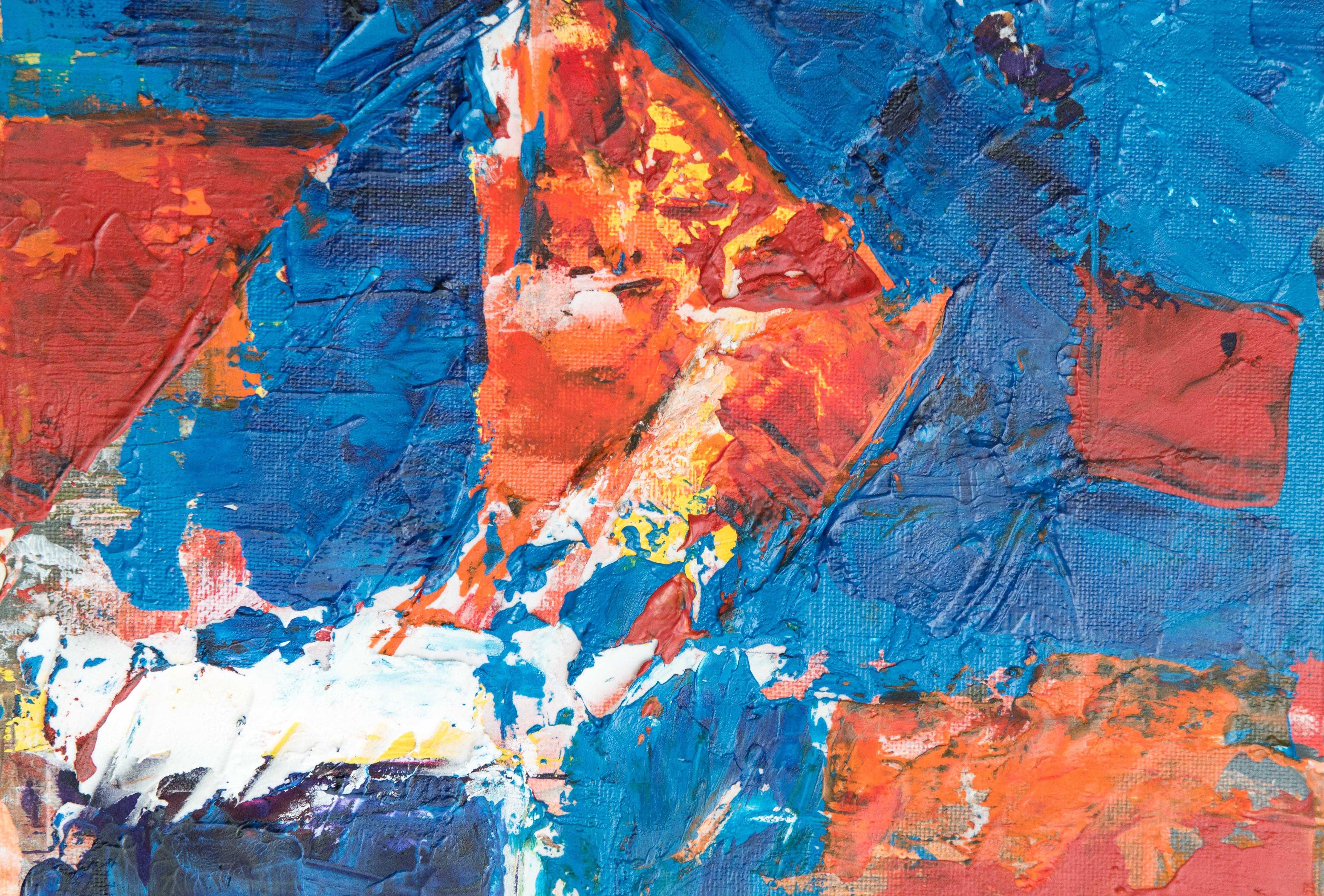 Kostenloses Stock Foto zu abstrakt, abstrakter expressionismus, abstraktes gemälde, acrylfarbe