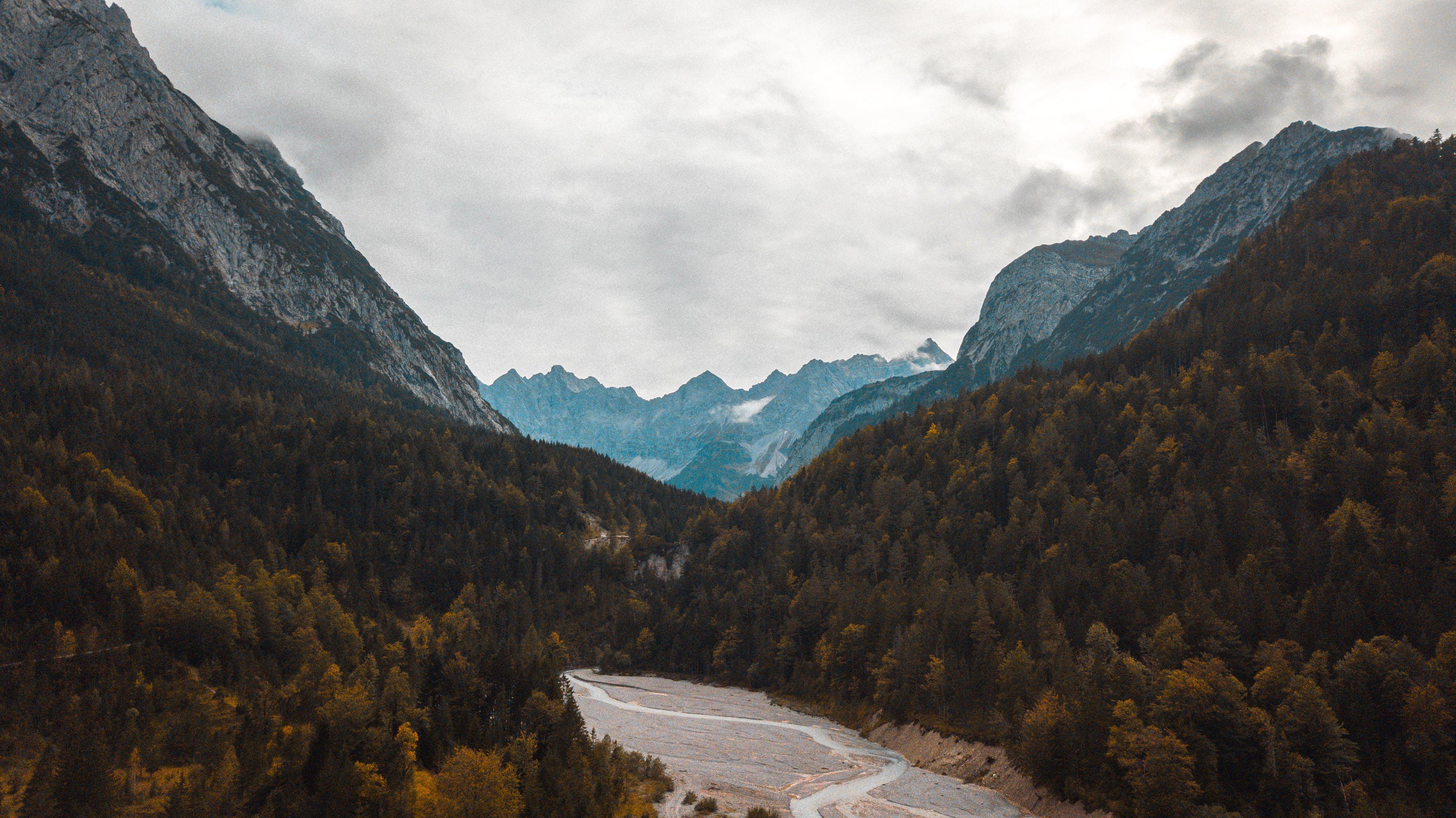 bjerge, dagslys, HD-baggrund