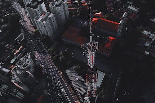 건물, 도시, 도시 풍경, 드론 촬영의 무료 스톡 사진