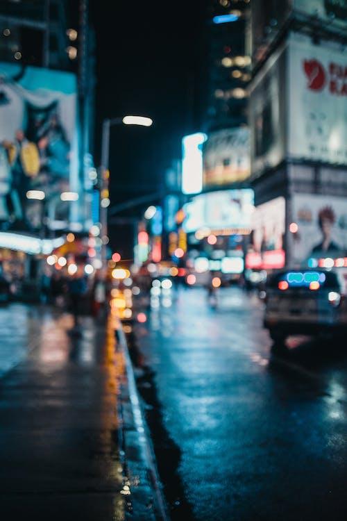 도시, 도시의 불빛, 밤