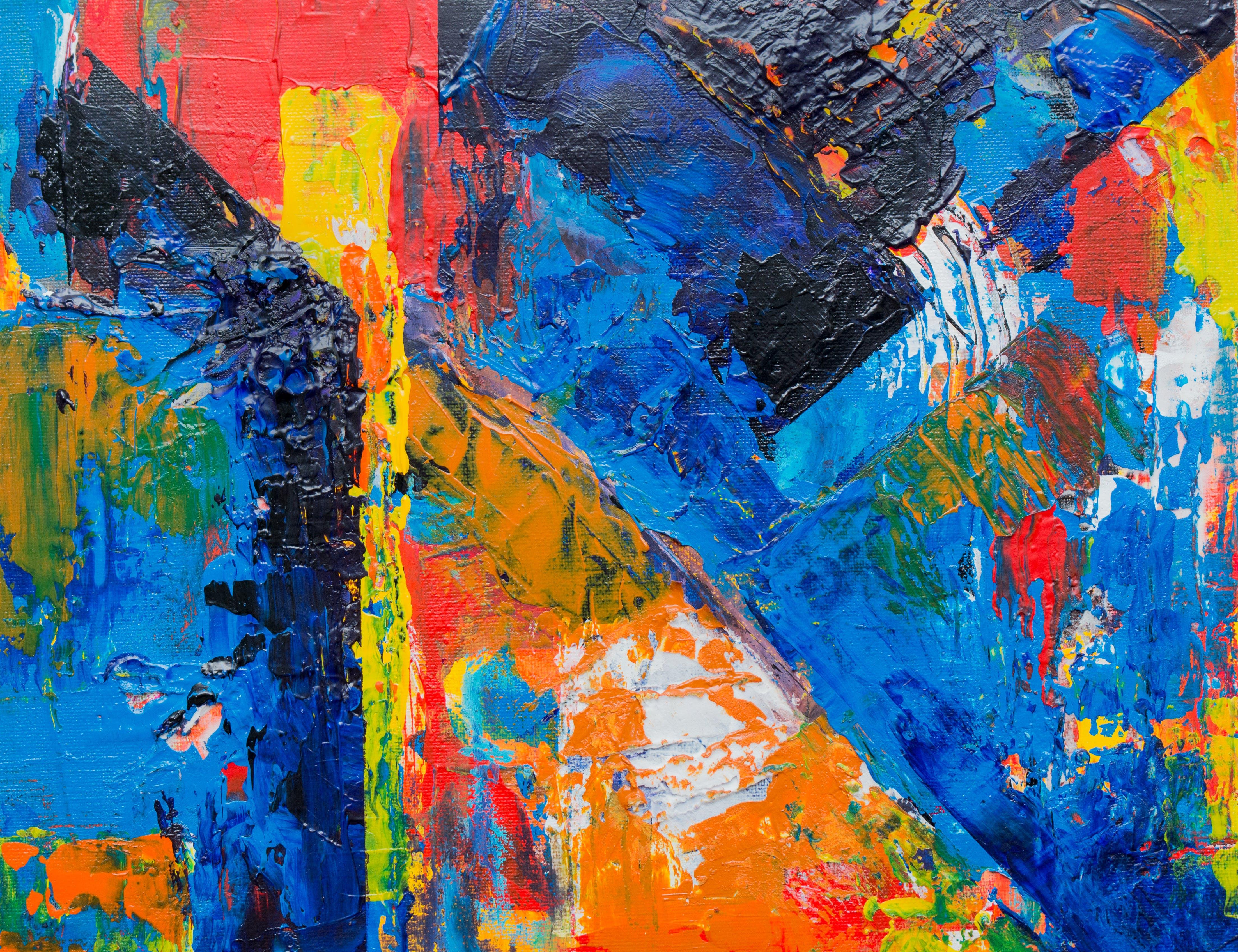 Darmowe zdjęcie z galerii z artystyczny, ekspresjonizm, farba, intensywny kolor