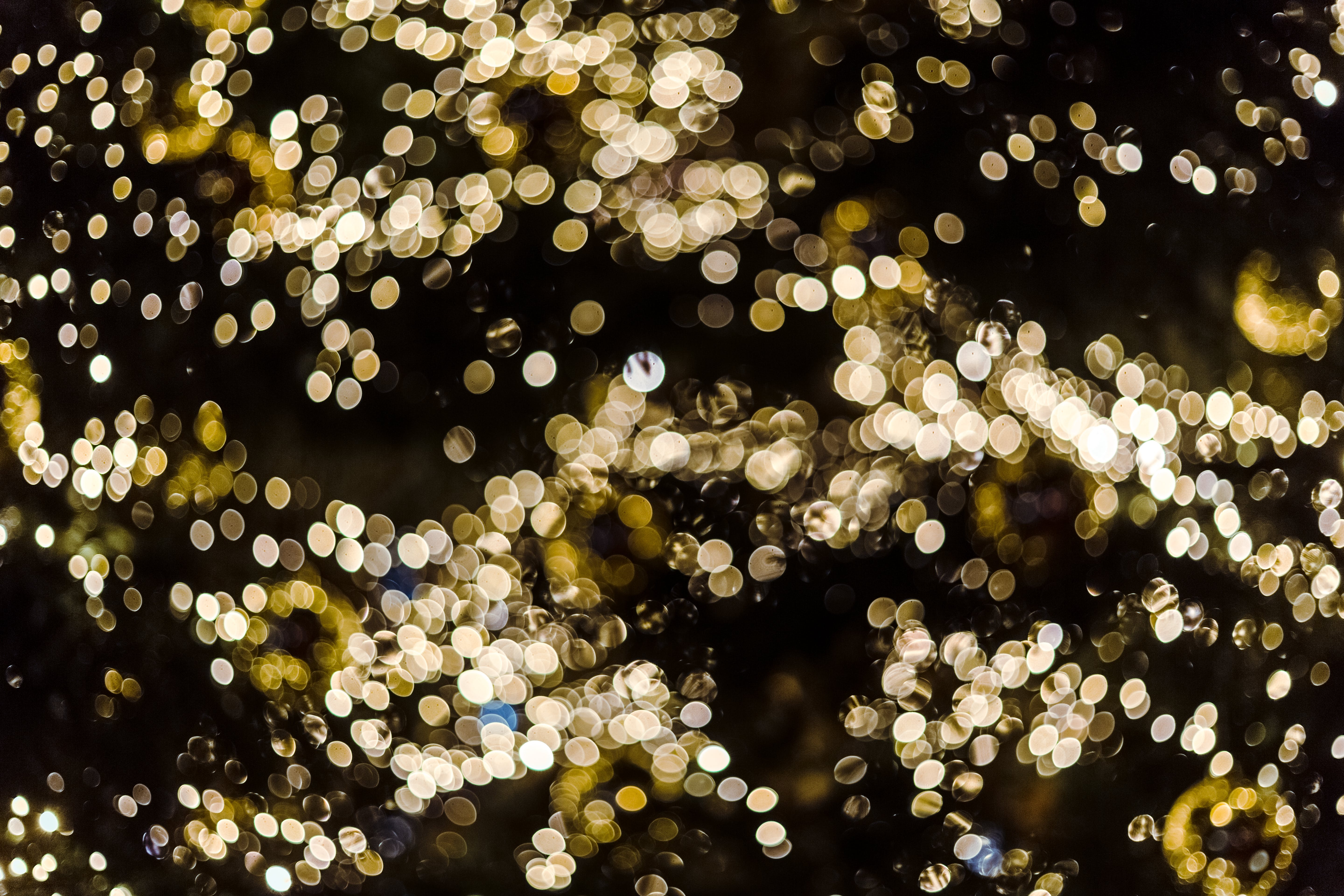 Gold-colored Bokeh Lights