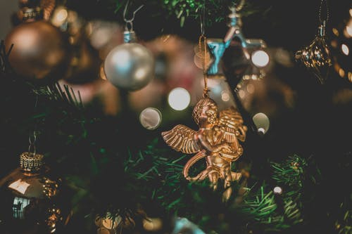 Gold-colored Angel Hanging Ornament