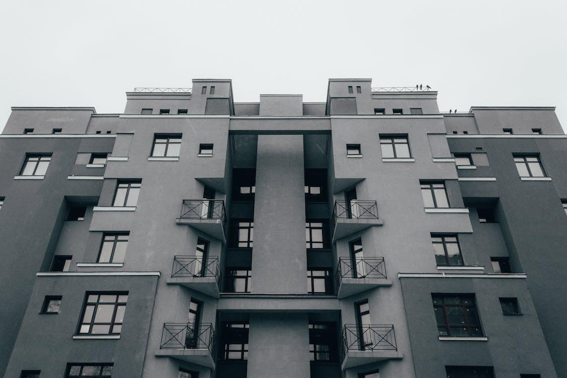 architektura, budynek, fasada