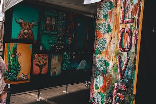 Gratis stockfoto met aanbieding, abstract olieverfschilderij, acrylverf, beurs
