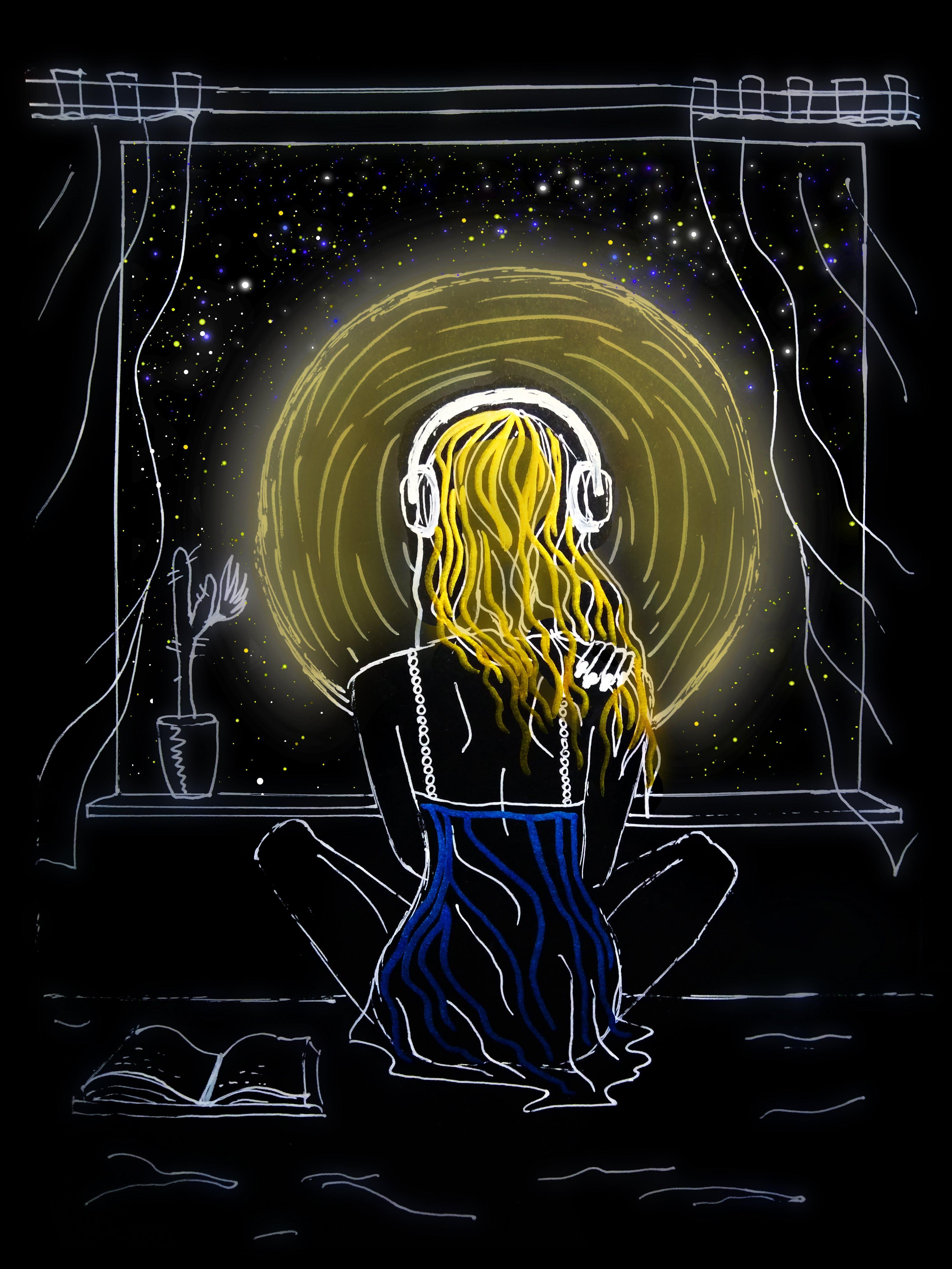 Free stock photo of drawing, night