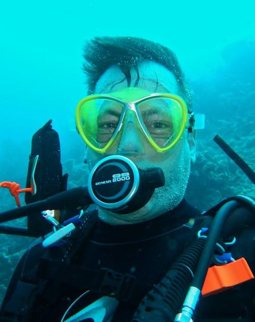 人, 水下, 水肺, 水肺潛水 的 免費圖庫相片