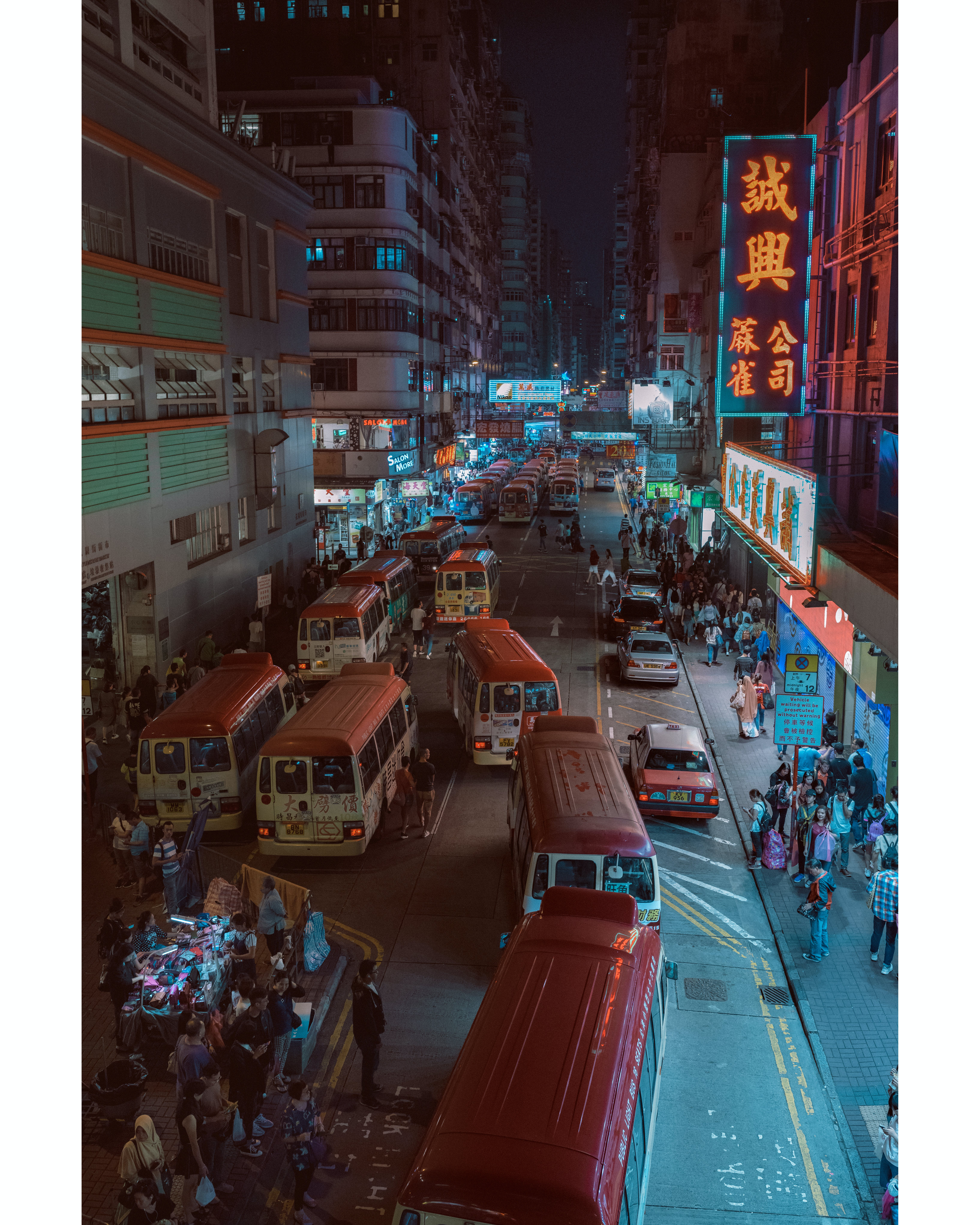 Aerial Photography Of Busy Street With People During Night Time