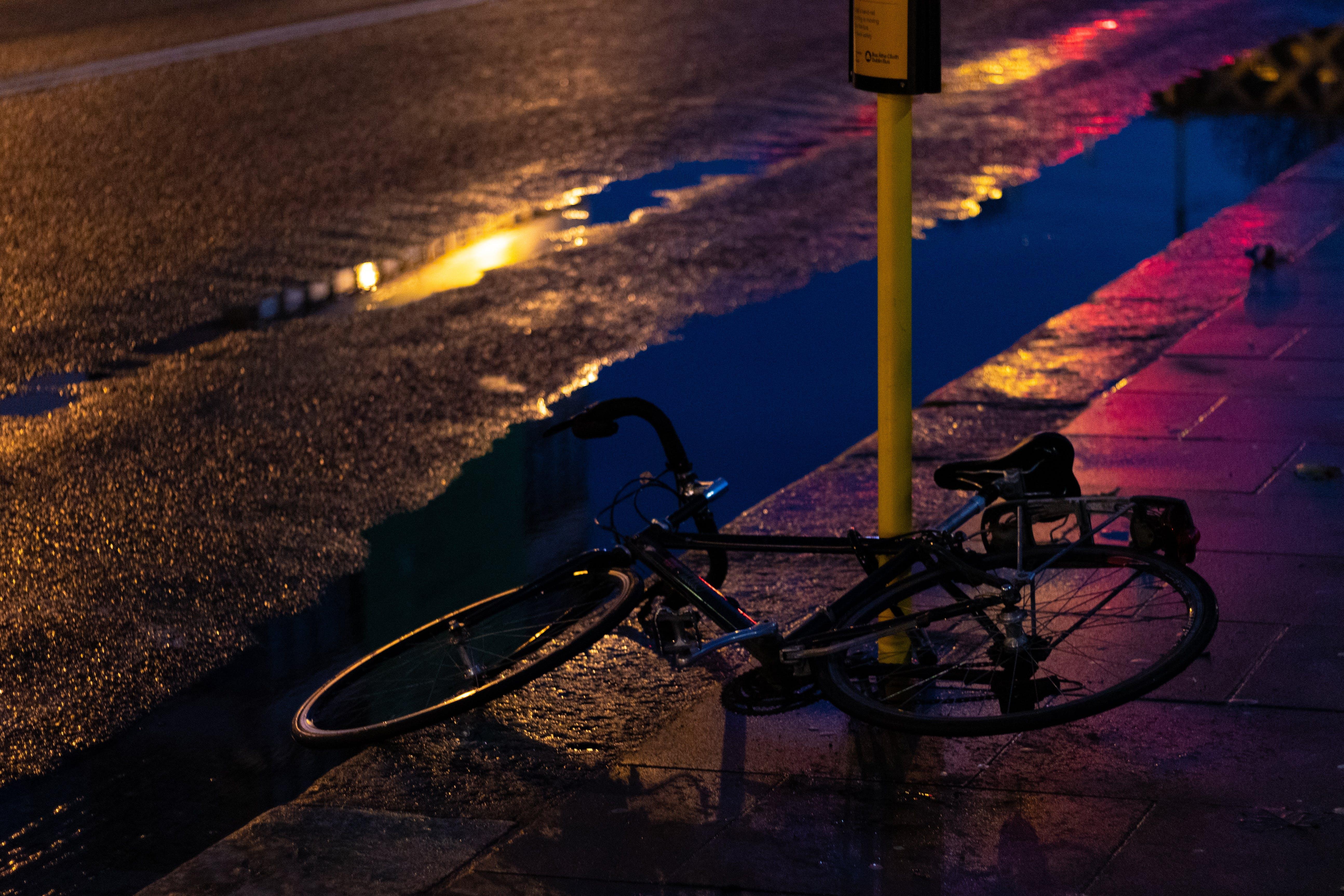 Free stock photo of abandoned, bike, dark, night