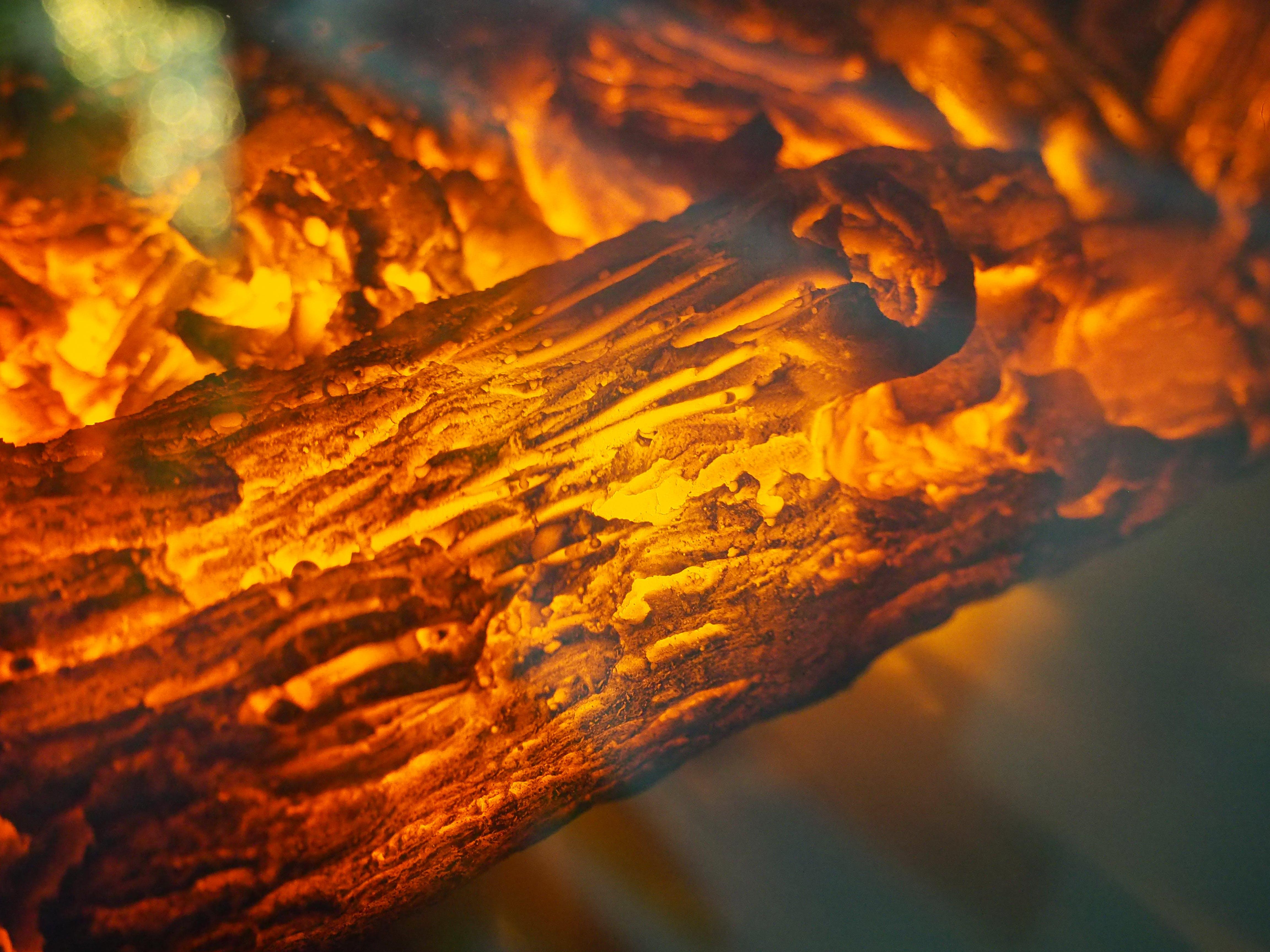 たき火, エンバー, ホット, マクロの無料の写真素材