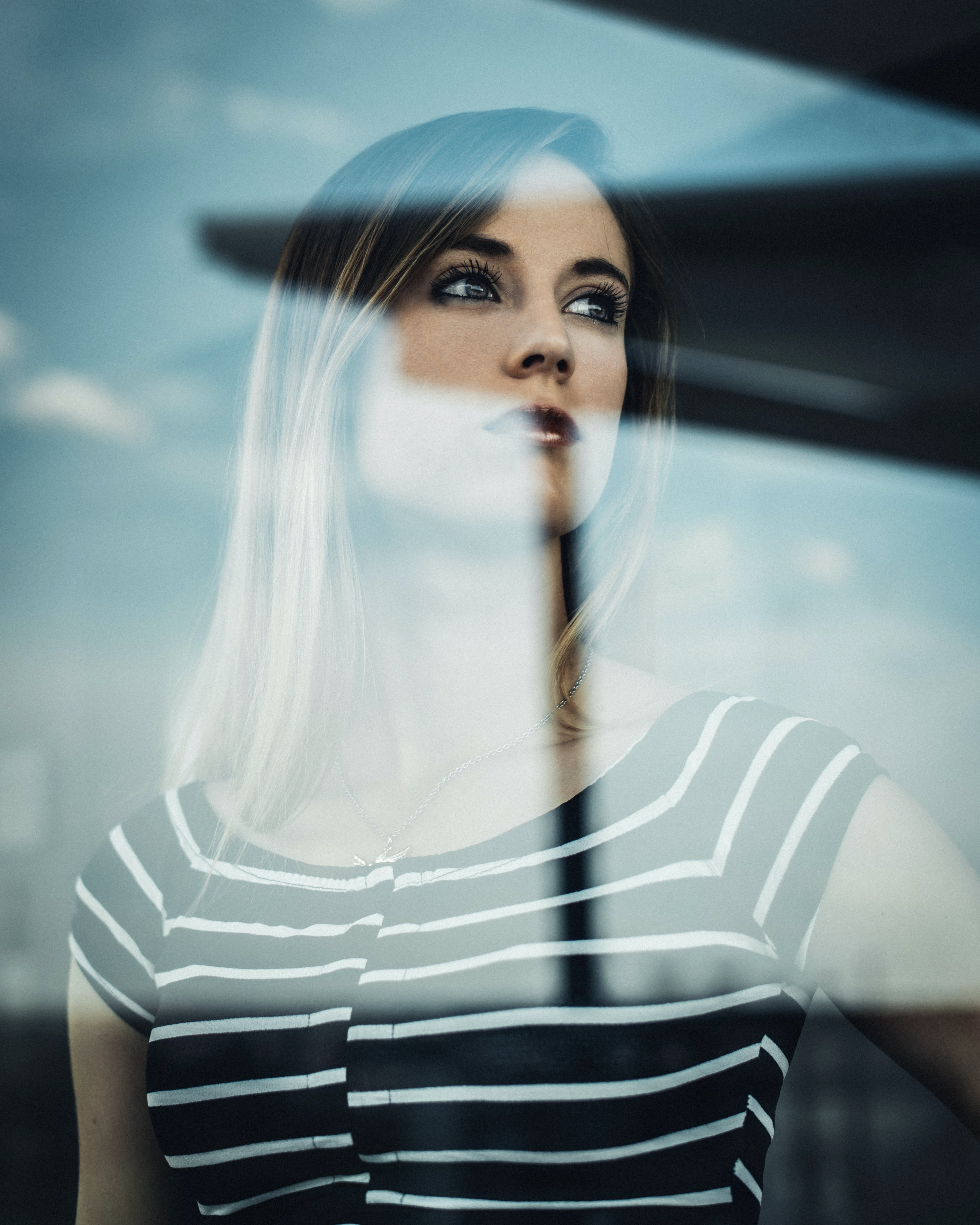 Woman Wearing Striped Shirt