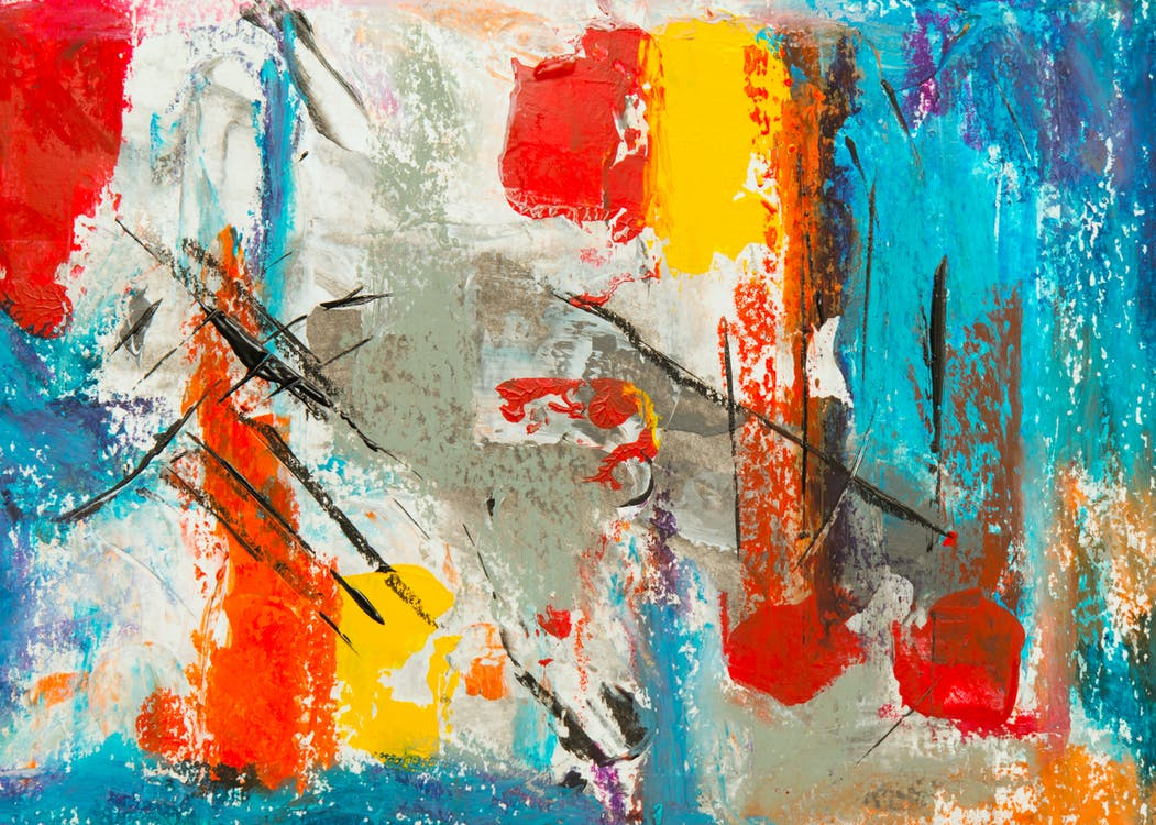 abstrakt maleri, close-up, design