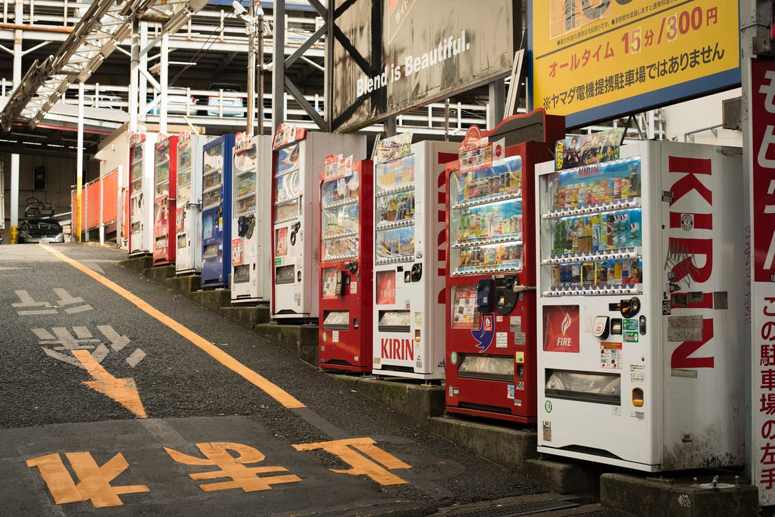 Free stock photo of convenience, japan, vending machine