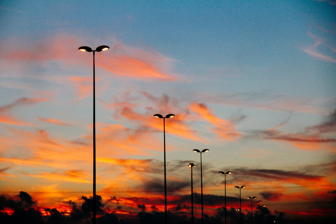 Photo of Street Lamps During Dawn