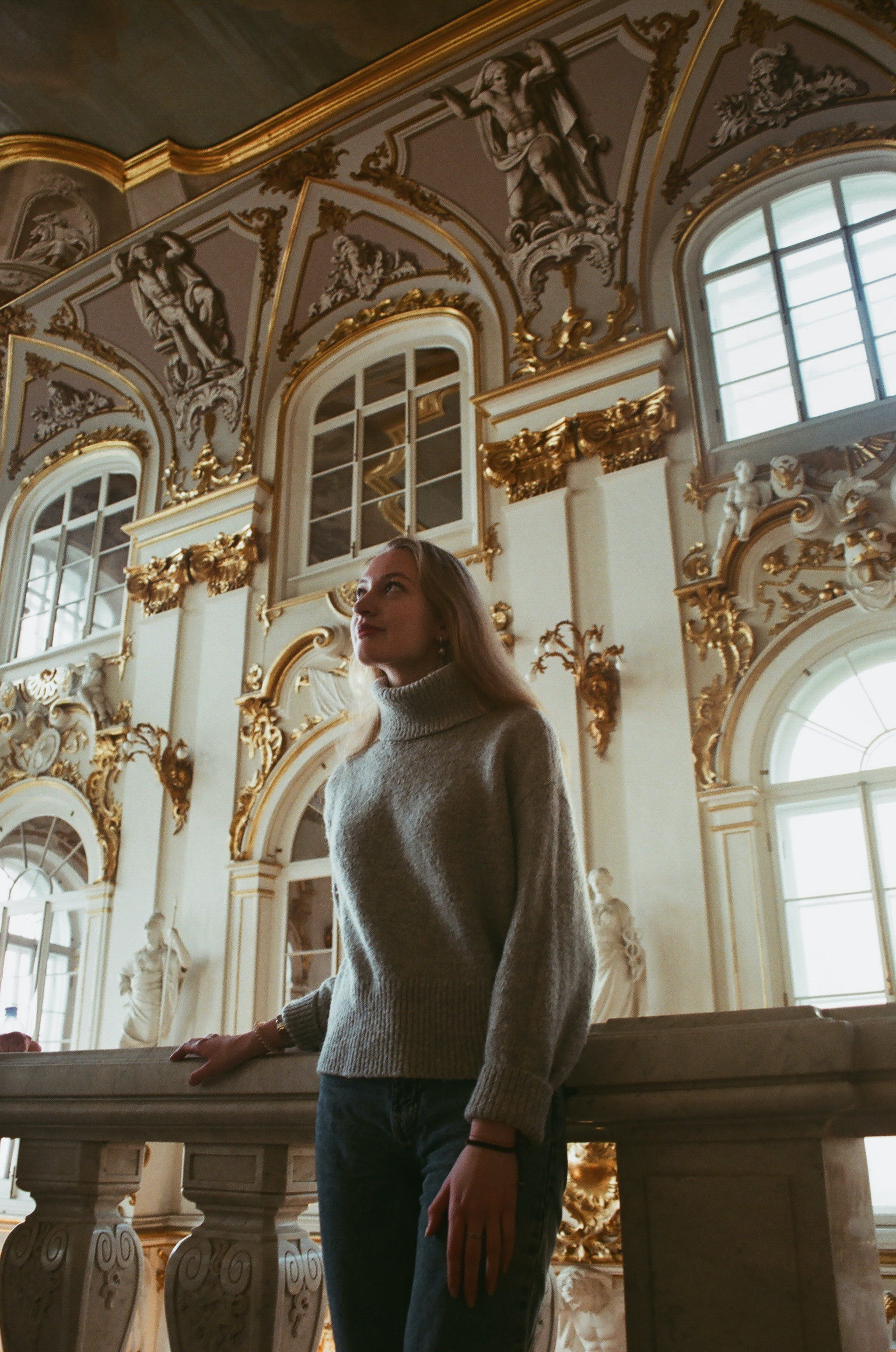 of arches, architecture, blond hair, building