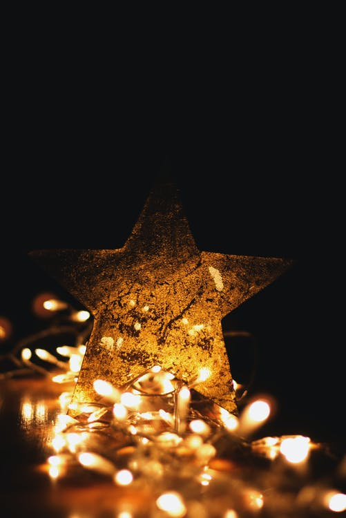 Macro Shot Photography of Star With Lights