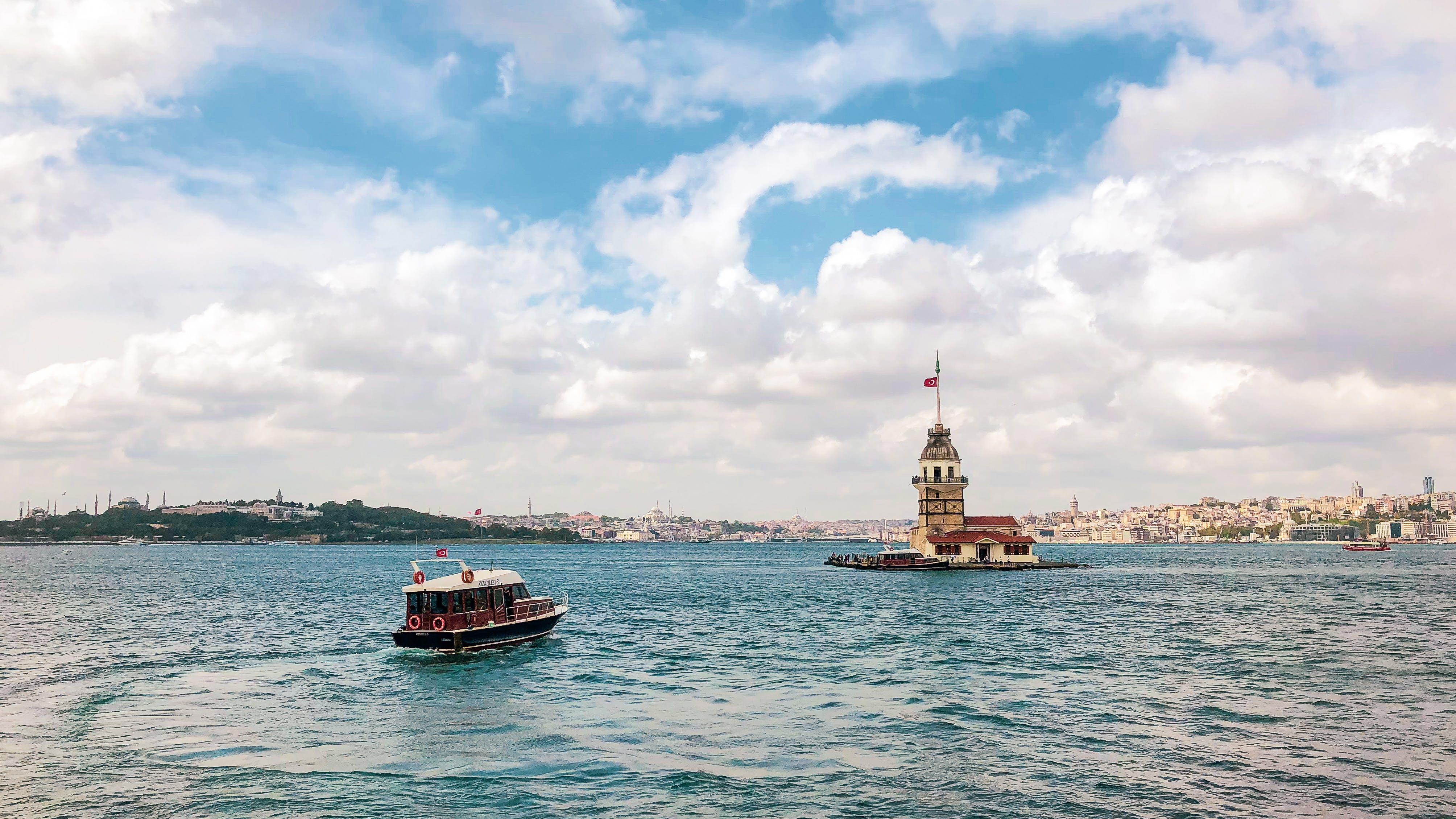 Free stock photo of anatolia, asia, blue sky, blue water