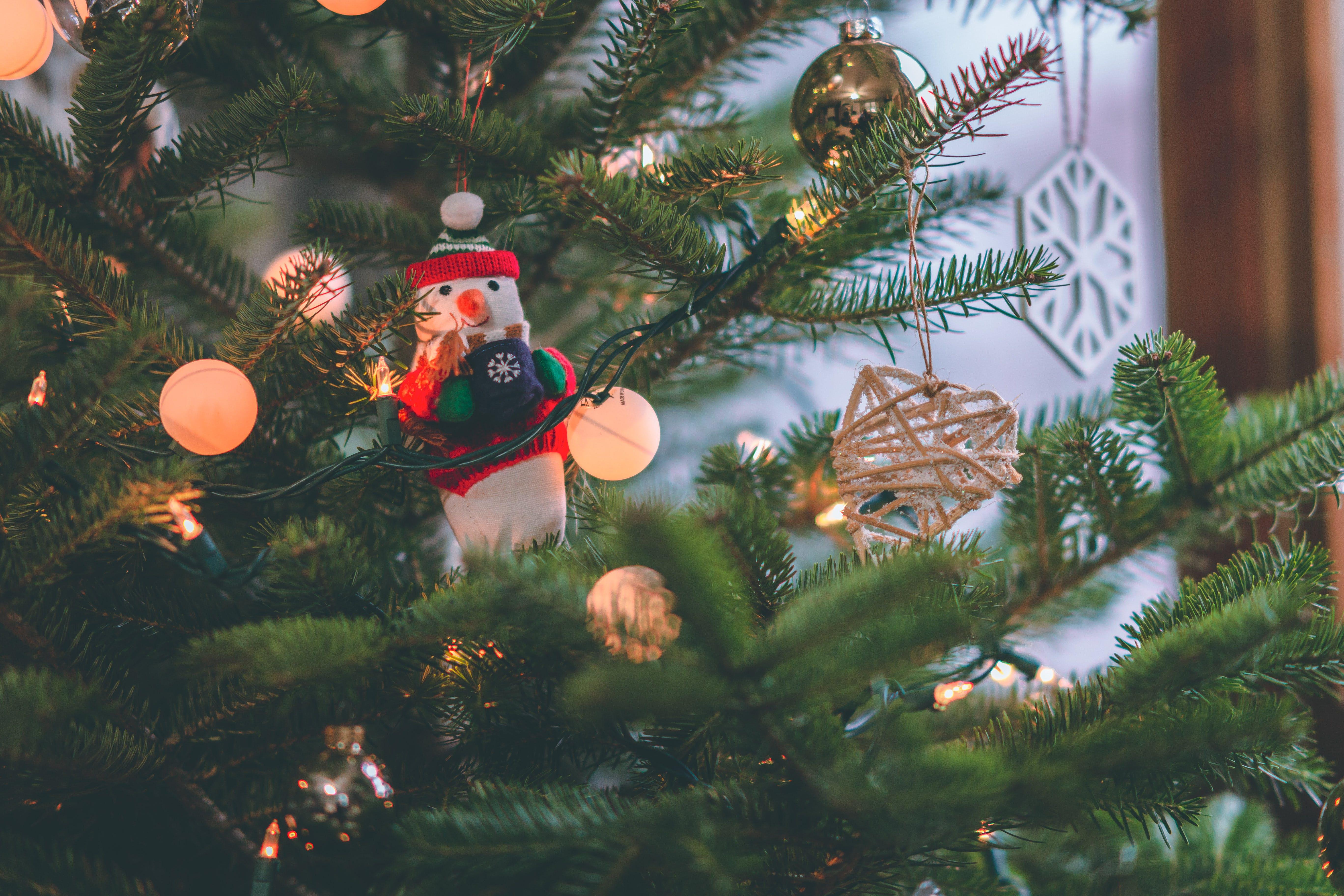 Snowman Decor on Christmas Tree