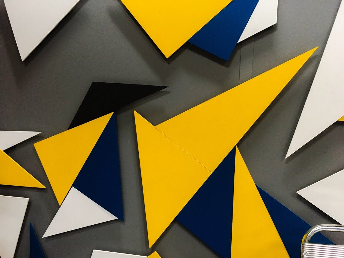Free stock photo of colorful triangles, pictures, texture, yellow background