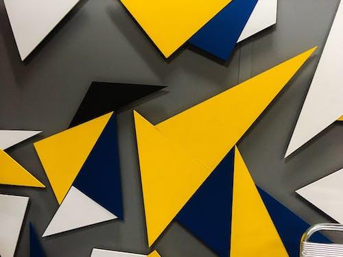 Immagine gratuita di immagini, sfondo giallo, trama, triangoli colorati