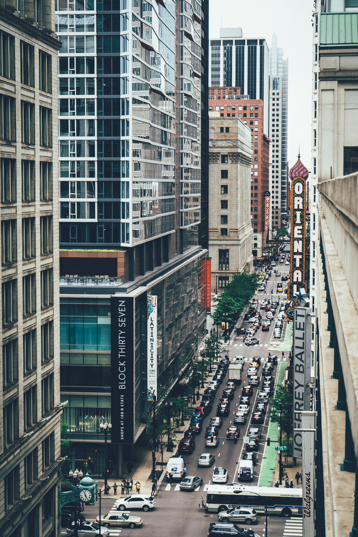 Kostenloses Stock Foto zu architektur, autos, chicago, fahrzeuge