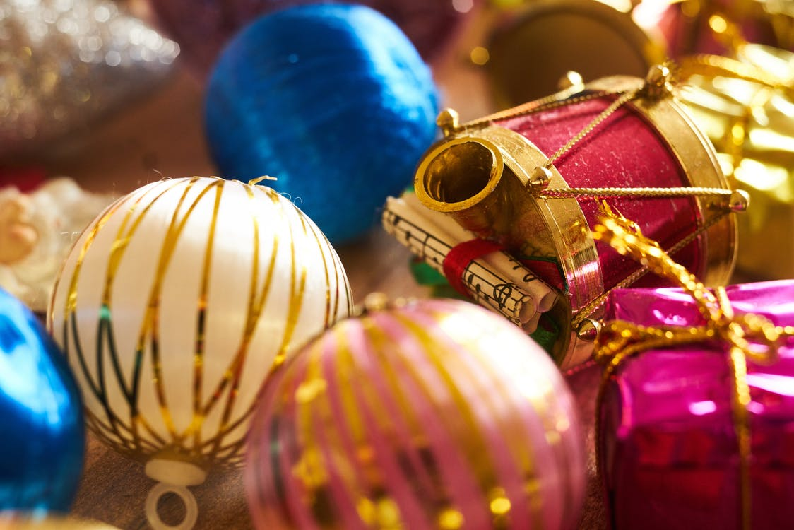 Close-Up of Christmas Baubles