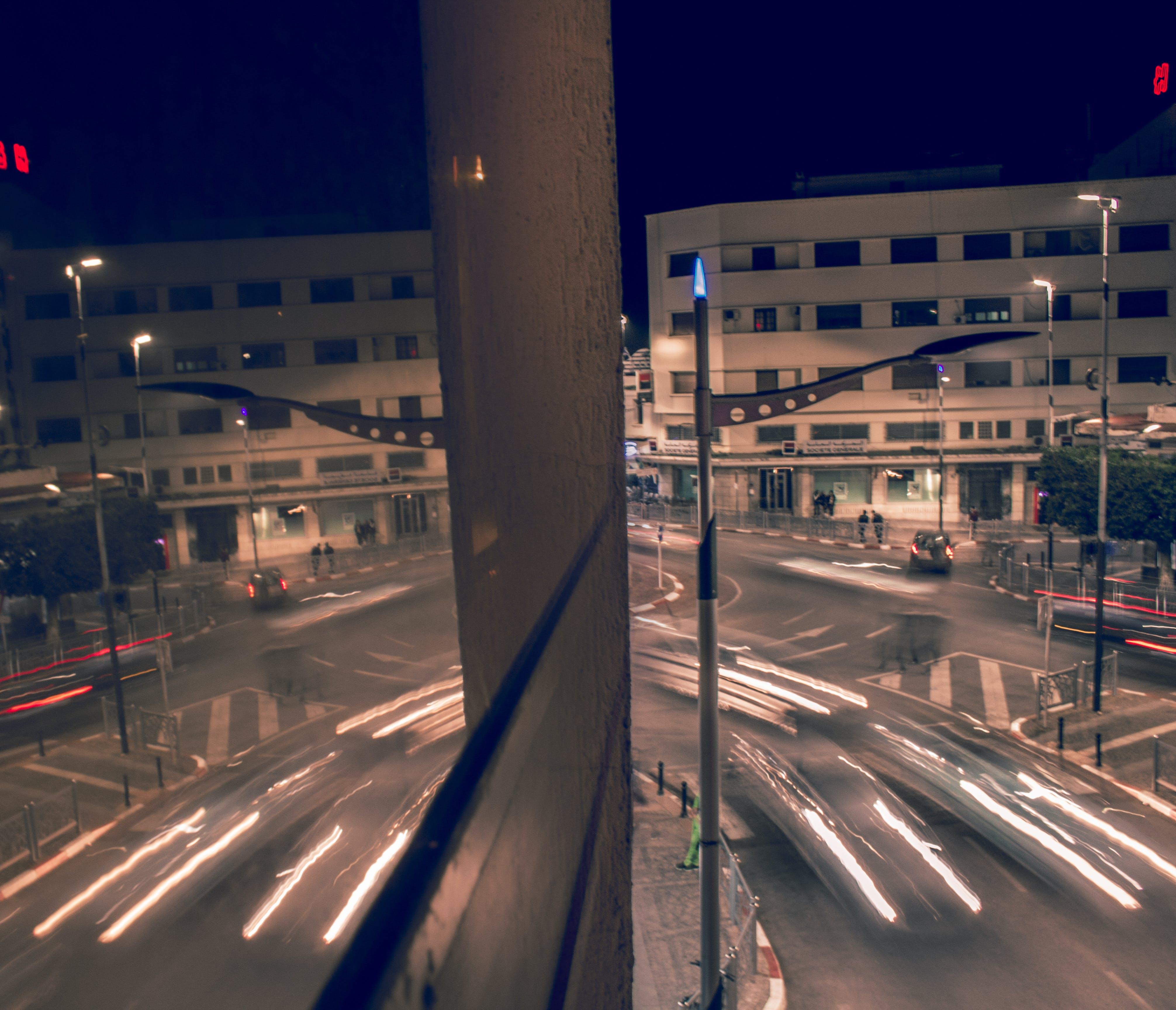 light reflections, long exposure, mirror