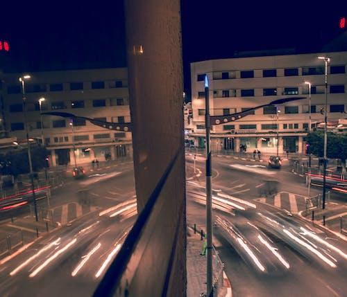 Free stock photo of light reflections, long exposure, mirror, night city