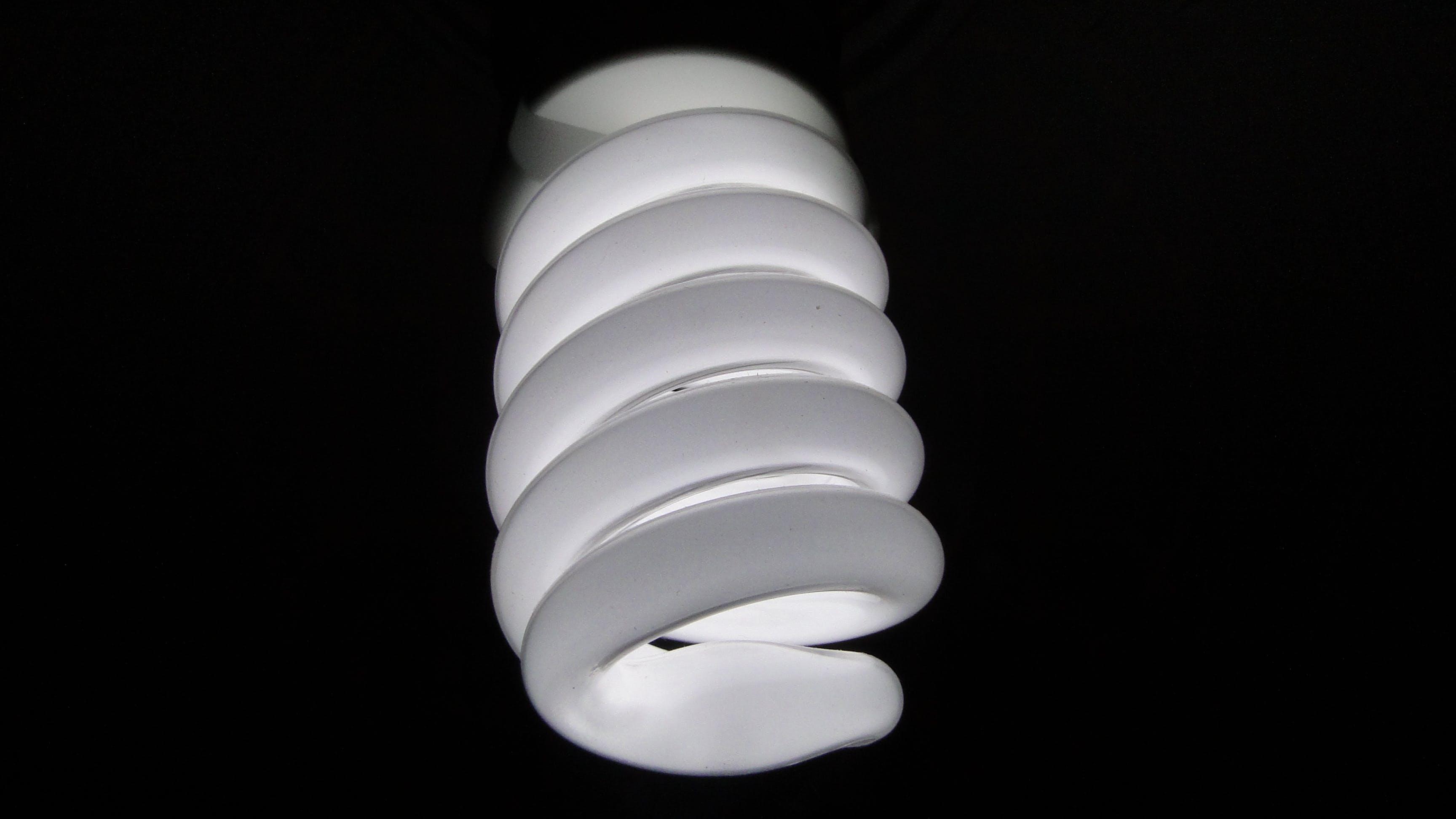 Spiral White Light Bulb