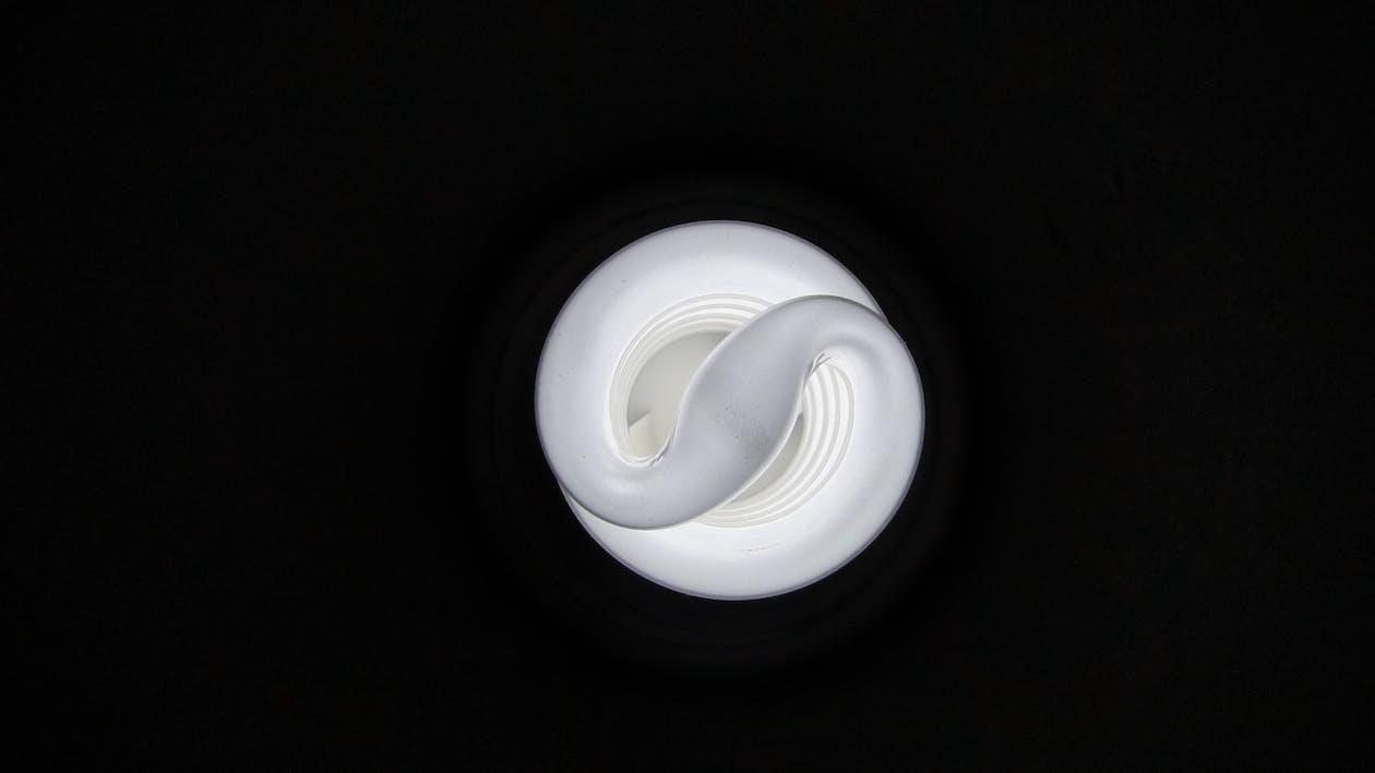 宏觀, 燈泡, 黑色背景