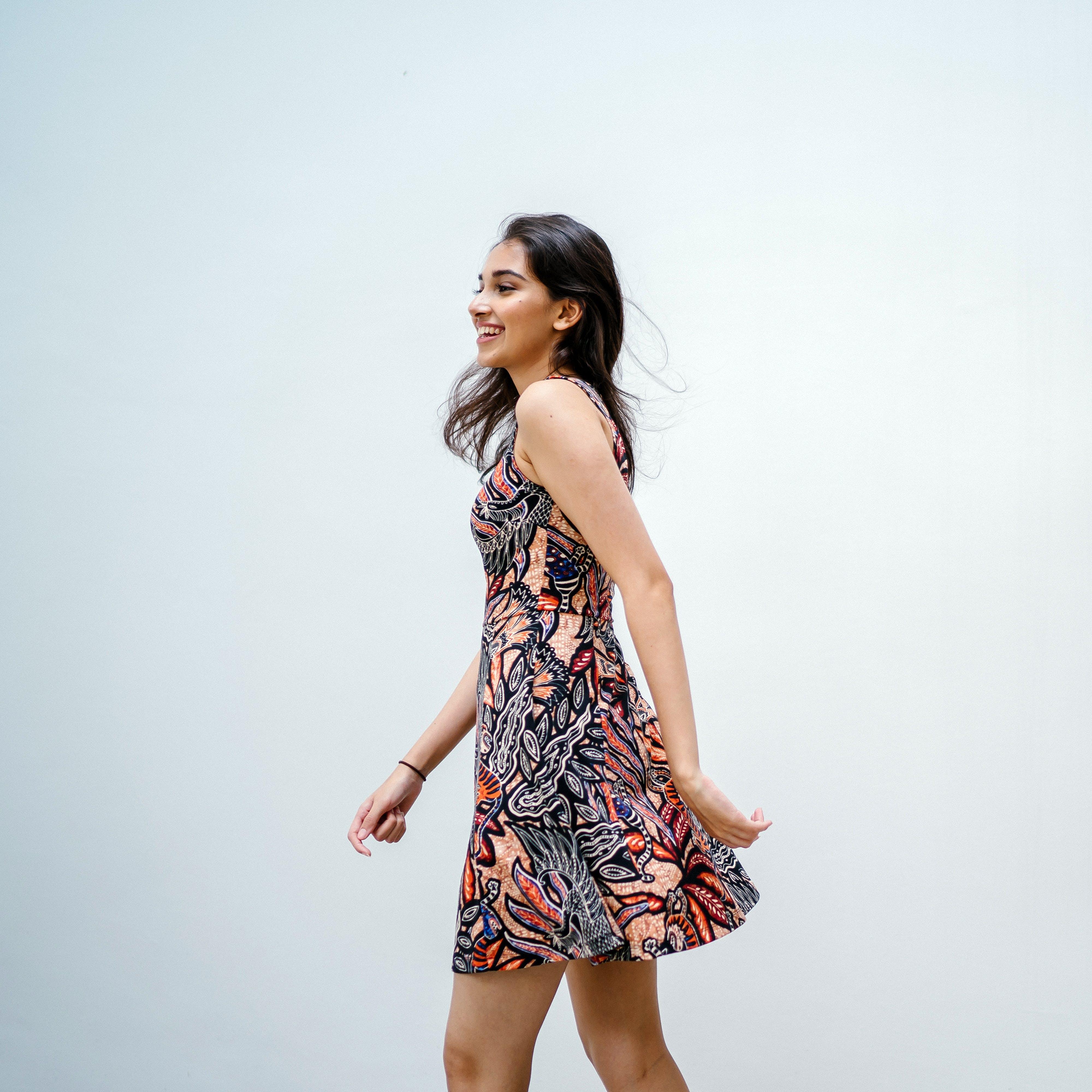 Photo of a Woman Wearing a Dress