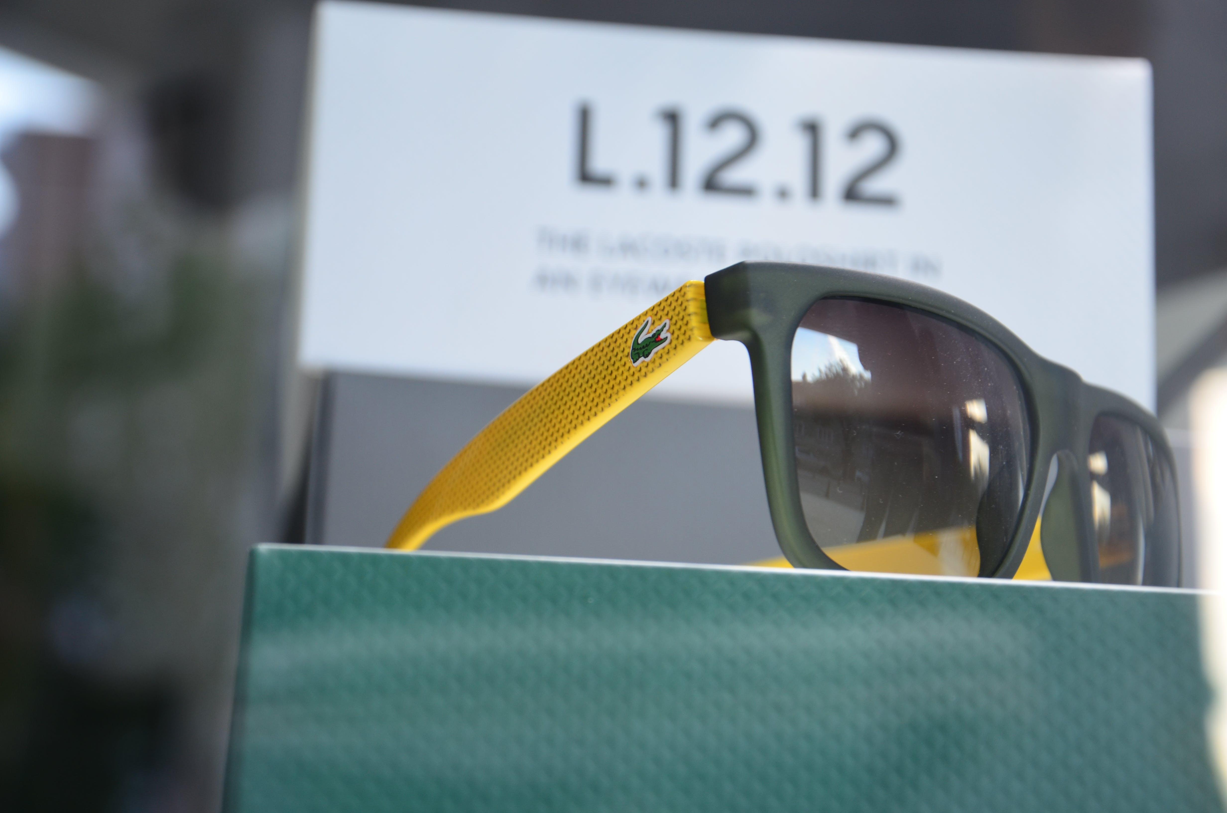 Lacoste Yellow Black Sunglasses