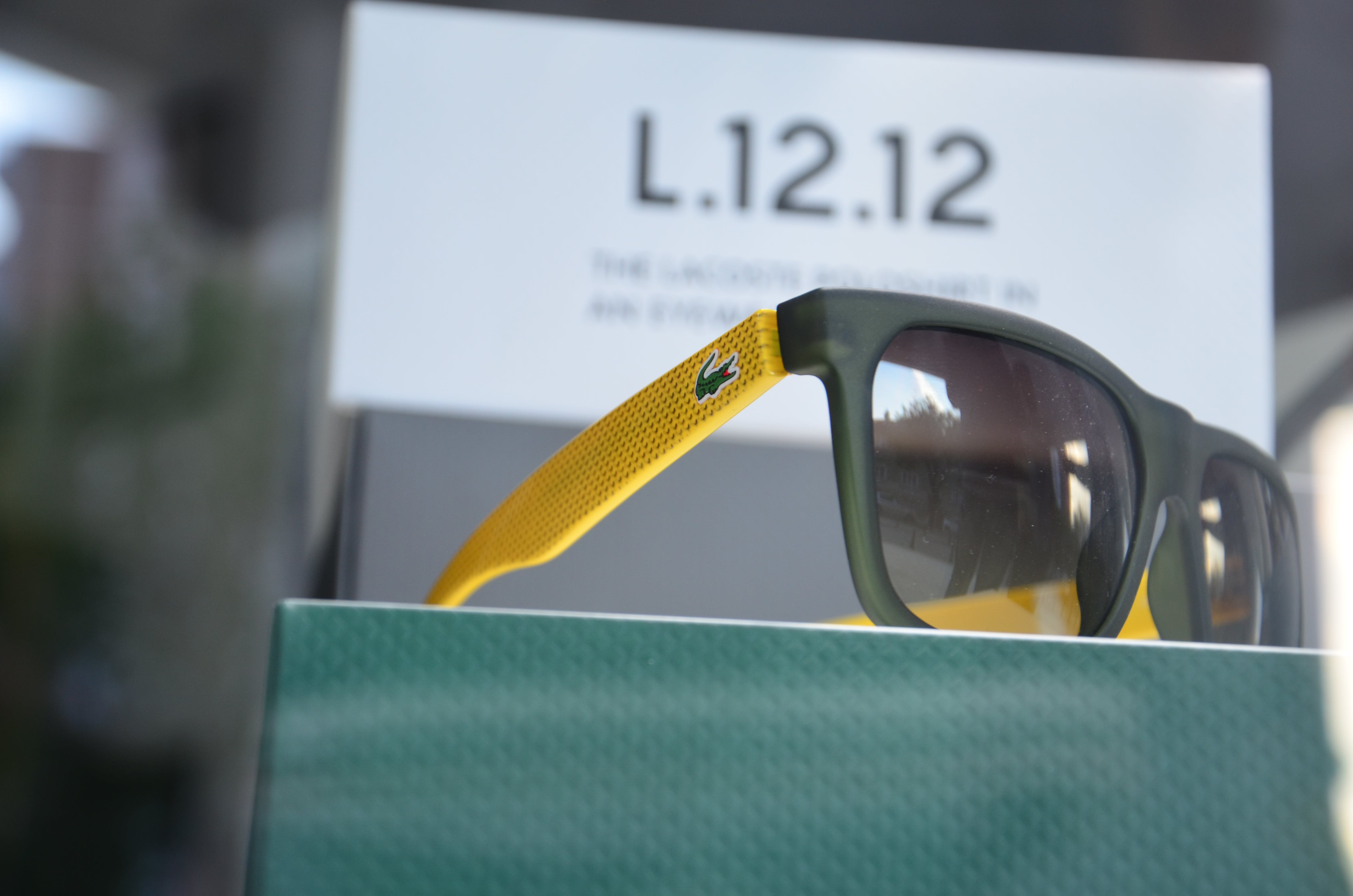 Lacoste Yellow Black Sunglasses