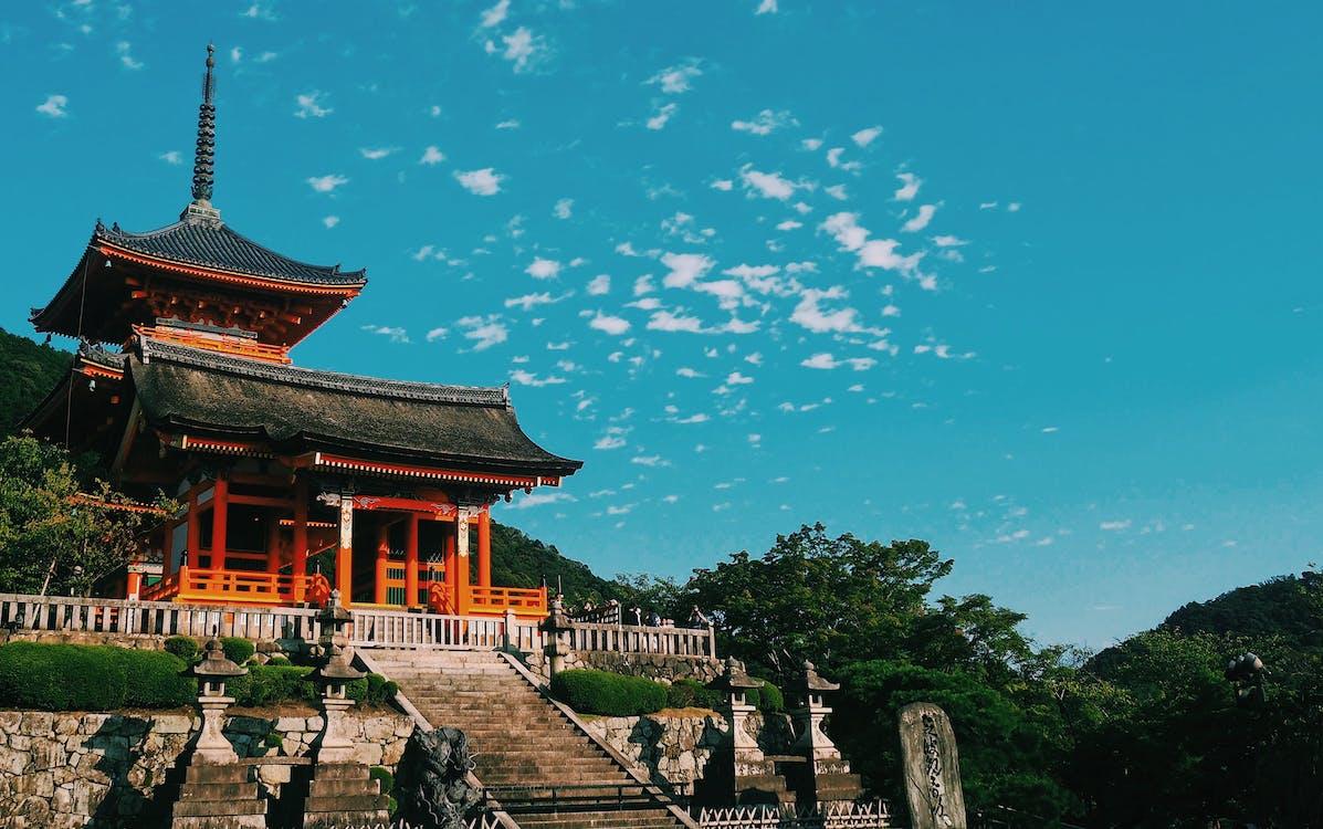 ancien, architecture, asie