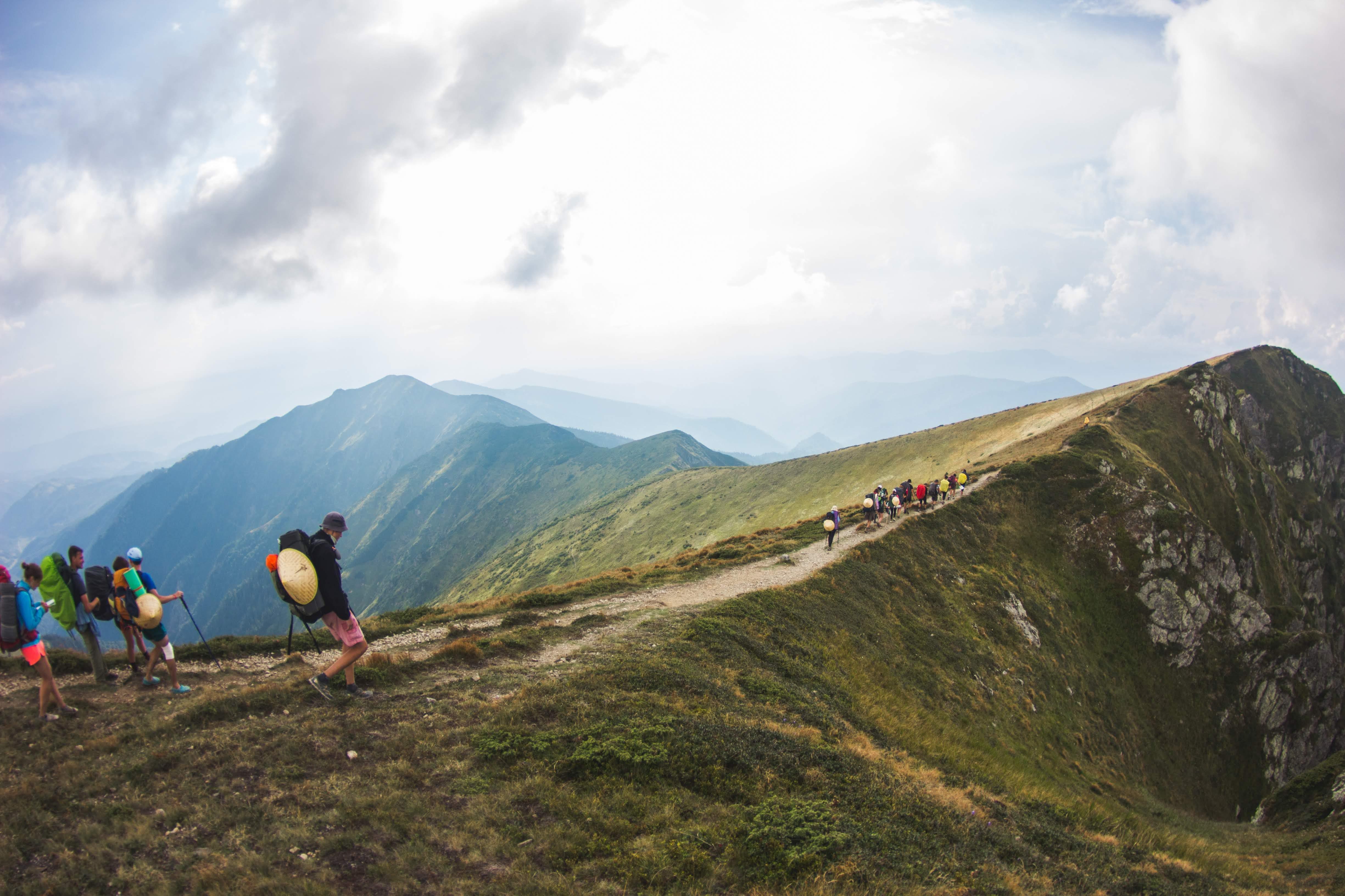 denní světlo, horolezectví, hory
