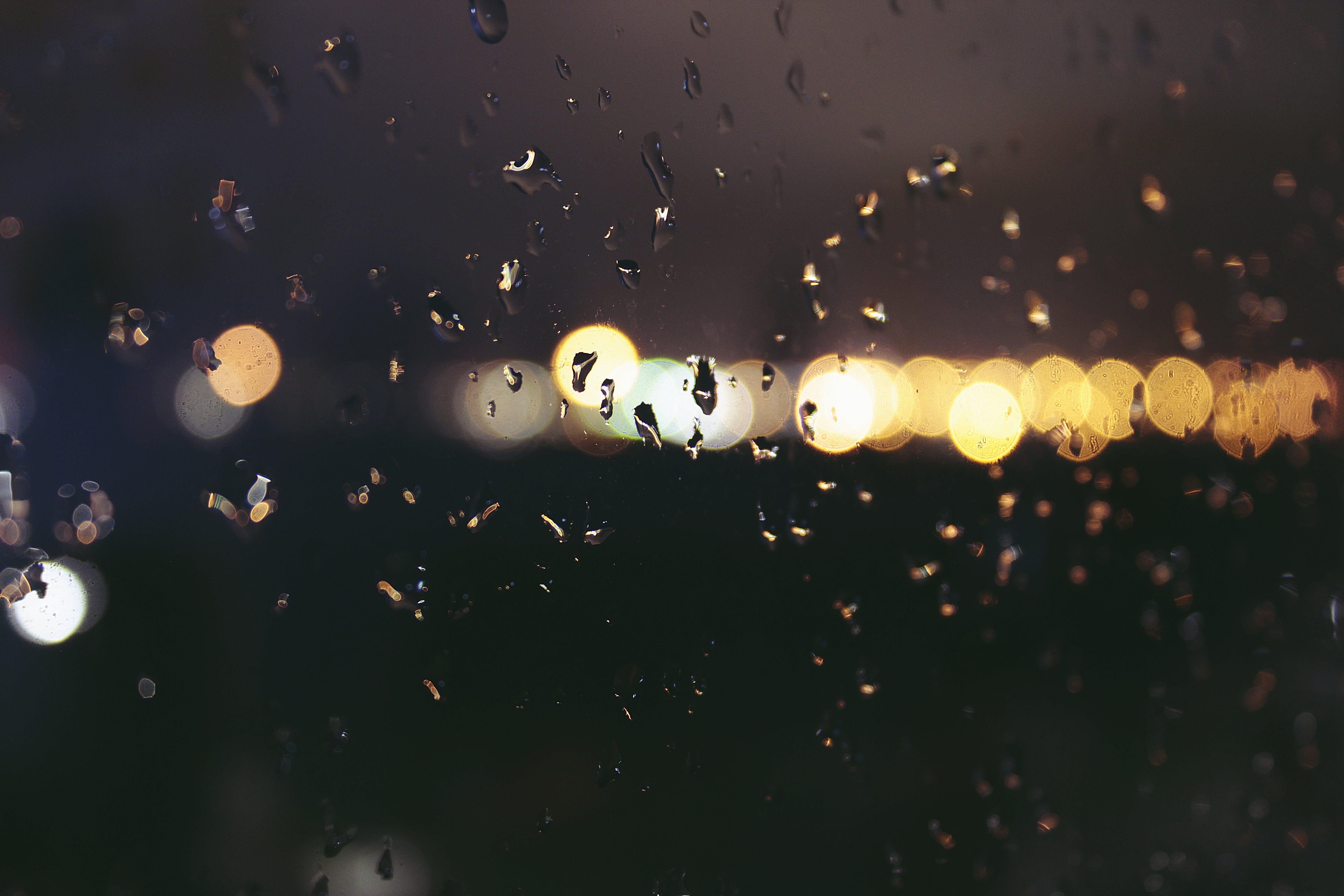Kostenloses Stock Foto zu belichtung, dunkel, fenster, regen